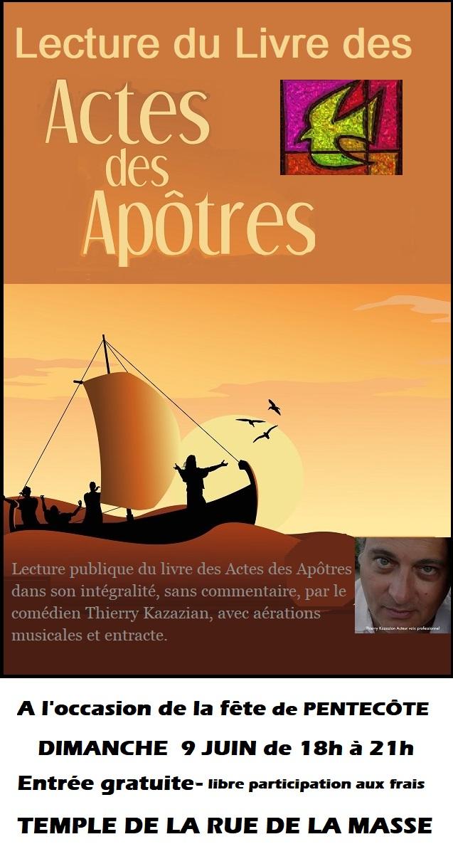 Lecture du livre des Actes des apôtres